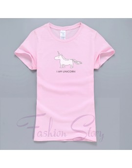 Tricou I am Unicorn Roz deschis