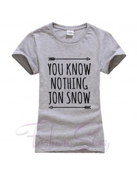 Tricou You Know Nothing Jon Snow Gri