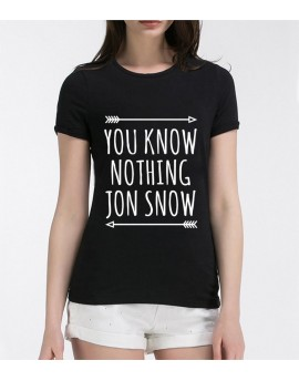 Tricou You Know Nothing Jon Snow Negru
